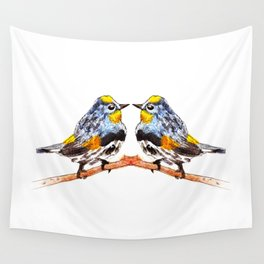 Bird yellow rumped wabler Wall Tapestry