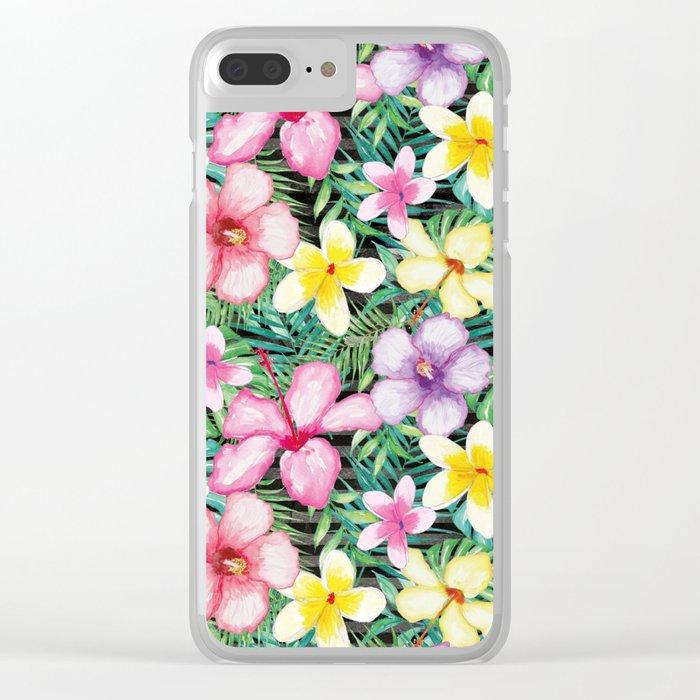 Summer Flower #3 Clear iPhone Case