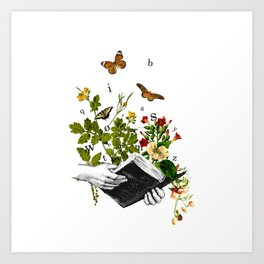 Look in a Book Art Print