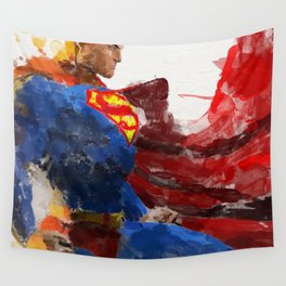 Watercolour Superman Wall Tapestry