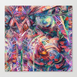 Ornamental Stained Glass Canvas Print