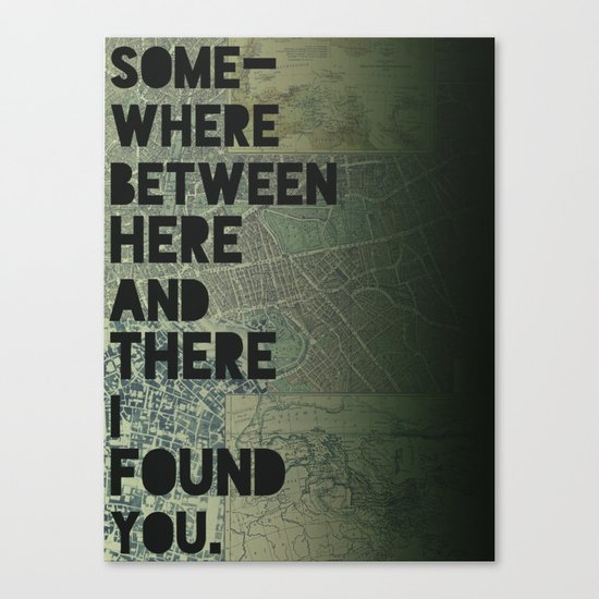Here & There III Canvas Print