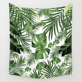 Tropical Jungle Leaves Pattern #12 (2020 Edition) #tropical #decor #art #society6 Wall Tapestry