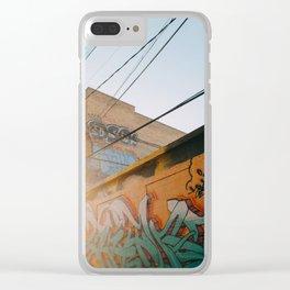 Graffiti Alley Clear iPhone Case