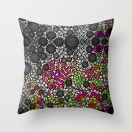 Black and Pink Throw Pillow