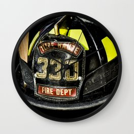 Fireman Hat Wall Clock