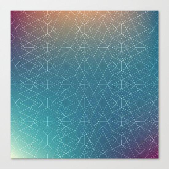 Blurred Geometry Canvas Print
