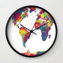 World Map Low Poly Wall Clock