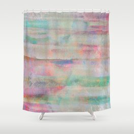 pastel painting, abstract art Shower Curtain