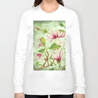 magnolia Long Sleeve T-shirts featuring Magnolia by CatDesignz