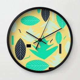 Leaf shapes Wall Clock