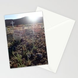 Unknown man graveyard Stationery Cards