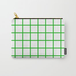 GRID DESIGN (GREEN-WHITE) Carry-All Pouch