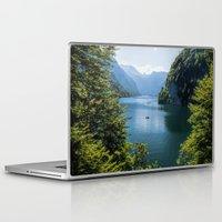 germany Laptop & iPad Skins featuring Germany, Malerblick, Koenigssee Lake III by UtArt