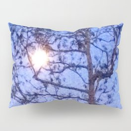 Early Morning Moon and Blue Sky Pillow Sham