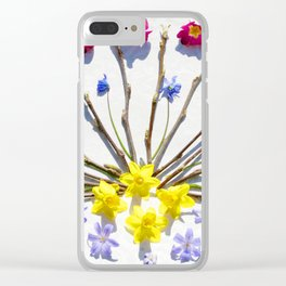 Spring flowers and branches III Clear iPhone Case