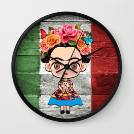 Frida Mexican Wall Clock