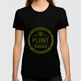 100% Plant Powered & Organically Fueled Green Badge T-shirt