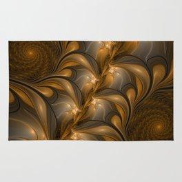 Warming, Luminous Abstract Fractal Art Rug