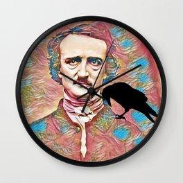 Literary Pop Culture, Edgar Allan Poe Wall Clock