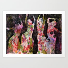 Dancing ladies Art Print
