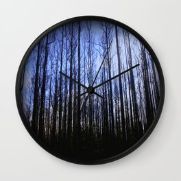 The aftermath of destruction & beauty of Nature Wall Clock