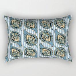 Blue Paisley Rectangular Pillow