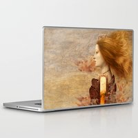 fez Laptop & iPad Skins featuring Persephone by Diogo Verissimo