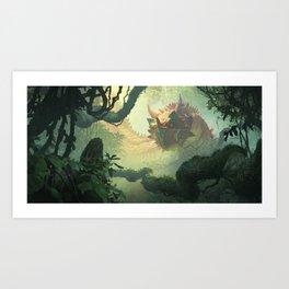 Elderscale Wurm Art Print