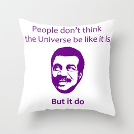 Black Science Man Quote Throw Pillow