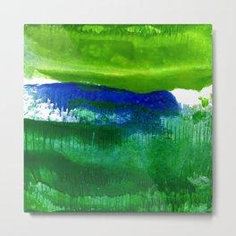 Encaustic Abstract No.27A by Kathy Morton Stanion Metal Print