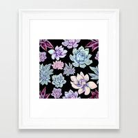 succulents Framed Art Prints featuring Succulents by Miranda Montes