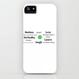 Daily Intention iPhone Case
