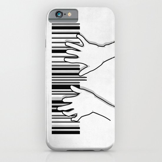 Barcode pianist iPhone & iPod Case
