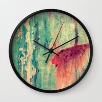 chaos Wall Clocks featuring Chaos by Claudia Drossert