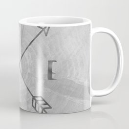 Compass Black and White Tree Coffee Mug