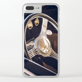 Classic Car Steering Wheel Clear iPhone Case