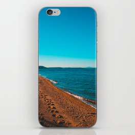 Greece Village at bay in the afternoon iPhone Skin