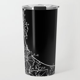 The Flower Moon; Crescent Moon; Feathers; Dream Catcher; Chalk Art Travel Mug