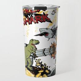 T-Rex VS Shark  Travel Mug