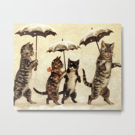 Cats in the snow Metal Print