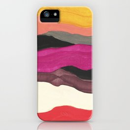 Desert Chic Abstract iPhone Case