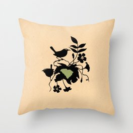 South Carolina - State Papercut Print Throw Pillow