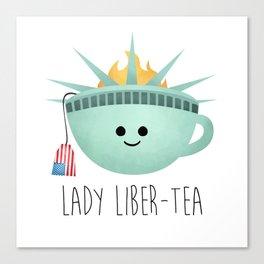 Lady Liber-tea Canvas Print