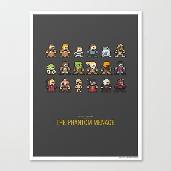 Mega Star Wars: Episode I - The Phantom Menace Canvas Print