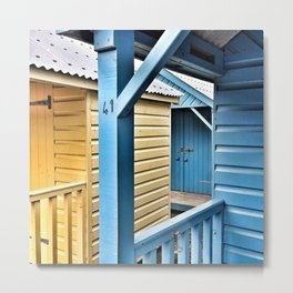 Beach Huts 41A Metal Print