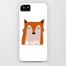 Fox with Flowers iPhone Case