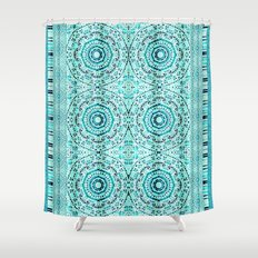 Minty Mandalas Shower Curtain