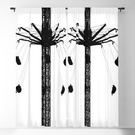 carousel round ride Blackout Curtain