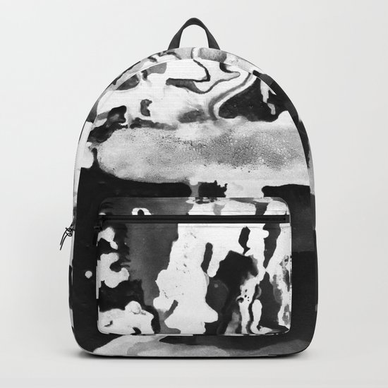 Dripping Tease in White and Black Backpack